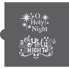 Oh Holy Night Cookie Stencil