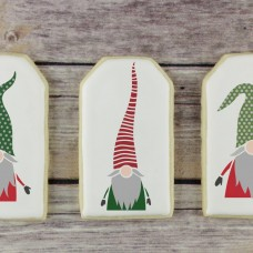Christmas Gnome 3 Piece Cookie Stencil