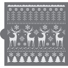 Nordic Christmas Sweater Background Cookie Stencil