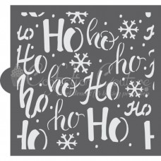 Ho Ho Ho Background Cookie Stencil