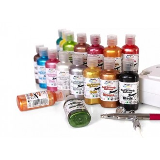 Metallic Airbrush Colours - 55ml Lemon Grass
