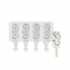 Ice Cream Gem Pops Silicone Mold ( Mini Size) 4 cavities