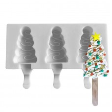 Ice Cream Pops Silicone Mold TREE ( Mini Size) 4 cavities