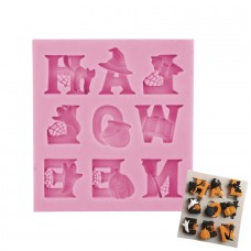 Halloween Letters Silicone Mold