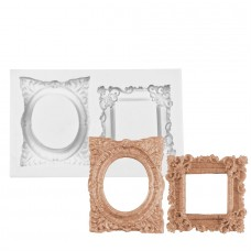 Dual Oval & Square Frames Silicone Mold