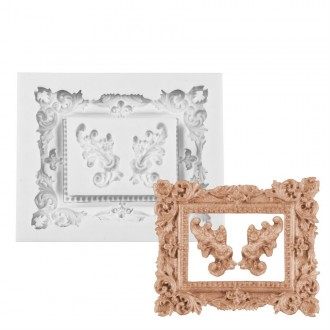 Elegant Rectangle Picture Frame Silicone Mold