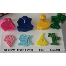 Beach Fondant and Pie Cutter Plunger Set (4 pc)