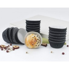 Foil Mini Bake Cups Black (Quantity 100)