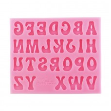 Groovy Letters Alphabet Silicone Mold