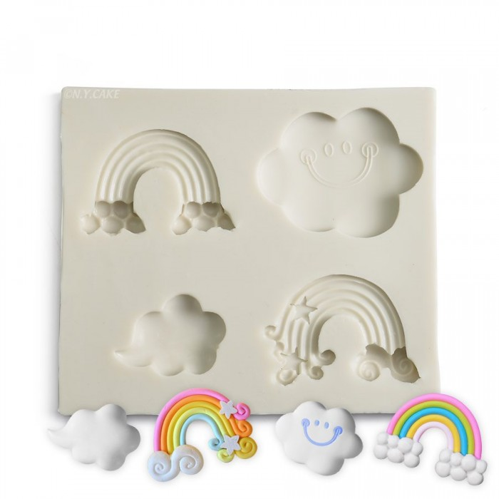Clouds and Rainbow Silicone Mold