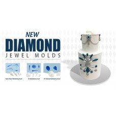 3D Diamond jewel Silicone mold (4 pieces)