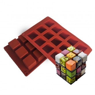 Mini Square Silicone Baking Mold