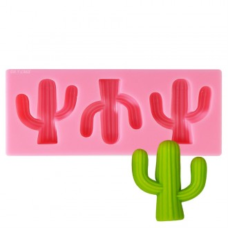 Cactus Silicone Mold - 3 Cavities