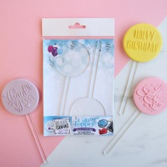 Blank Canvas by SweetStamp - MINI CIRCLE Blank TOPPER (Package of 2)