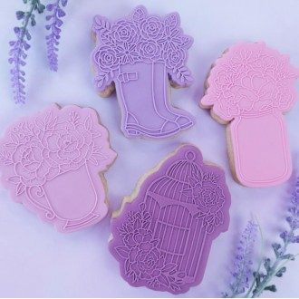 OUTboss™ Stamp N Cut - Floral Tea Cup Cutter & Stamp