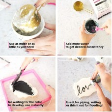 Stenciling Royal Icing Mix (Tuxedo Black from The Cookie Countess)