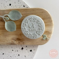 Oh Baby Wreath Cookie Stamp