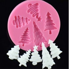 Christmas Trees Assorted Silicone Mold (5 designs)