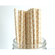 Paper Straws -  Damask Peach