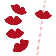 Paper Straws Flags (Lips)