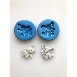 Elephants - Nursery Set of 2  Silicone Mold