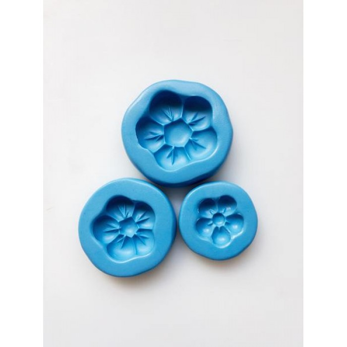 Daisy Puff Moulds - set of 3 Silicone Mold
