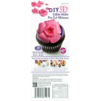 Wafer Paper Edible Precut Flowers Hibiscus (20 Pieces)