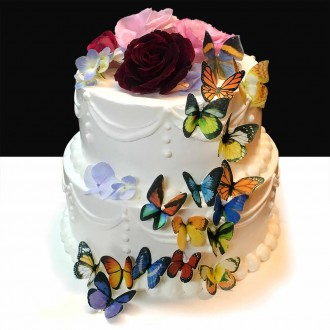 Wafer Paper Edible Precut Butterflies (24 Pieces)