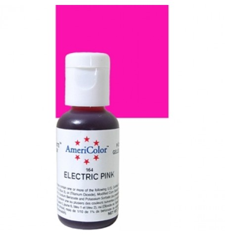 Electric Pink Soft Gel Paste from Americolor