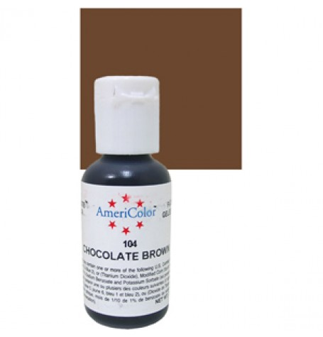 Chocolate Brown Soft Gel Paste from Americolor