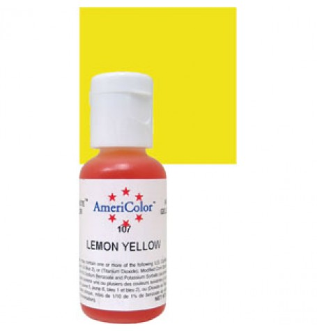 Lemon Yellow Soft Gel Paste from Americolor