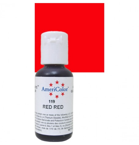 Red Red Soft Gel Paste from Americolor