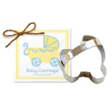 Baby Carriage Cookie Cutter 3 1/2""