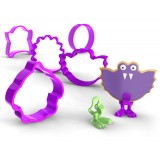 Bakelicious Monster Cookie Cutter and Feet Set