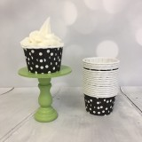 Mini Baking Cups - Black Polka Dot