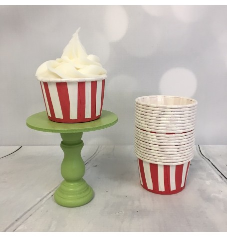 Mini Baking Cups - Red Stripes