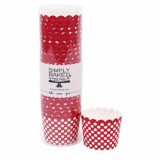 Baking Cup - Small Scarlet Polka Dot (25 cups) 3oz