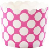 Baking Cup - Large Fuchsia Polka Dot (20 cups) 5oz