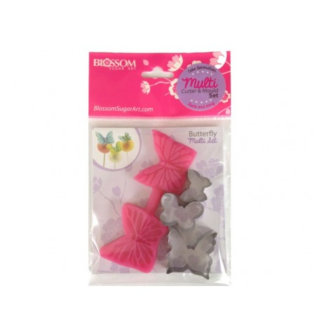 Elegant Butterfly Cutter & Mould  (with Extra cutters)