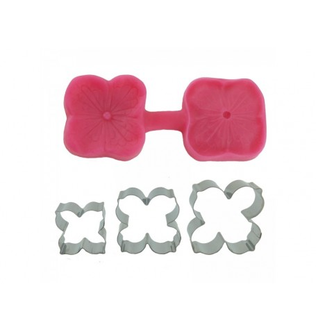 Hydrangea Cutter & Mould (with Extra cutters)