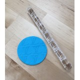 Fondant Impression Rolling Pin Louis Vuitton Texture Small