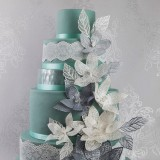 Cake Lace Mat Fantasy Petals and Leaves