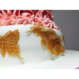 Cake Lace Mat 3D Feathers