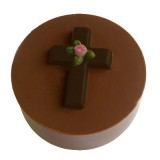 Cookie Chocolat Mold - Cross With Rose