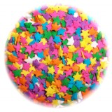 Pastel Star Shape Sprinkles