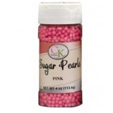 Sugar Pearls 3-4mm Pearlized Pink