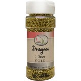 Sugar Pearls 1-2mm Gold Dragees