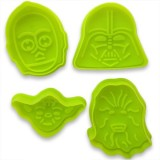 Star Wars cutter and plunger (4pc)