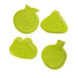 Angry Bird cutter and plunger (4pc)