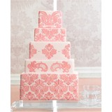 5 tier Damask Cake Stencil Set from Martha Stewart (6 pieces)